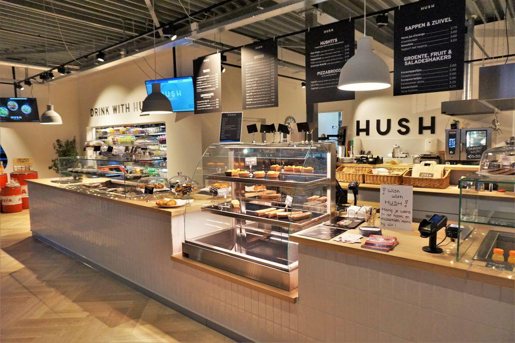 Hush Tankstation Winkel Interieur in Enter - RS Interieurbouw